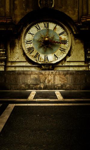 Rustic Clock Photography Backdrops