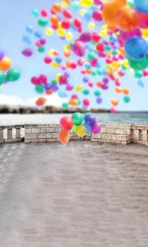 Balloon Burst Backdrop