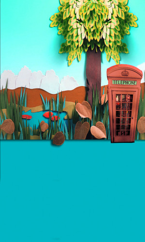 Phonebooth Pond Backdrop
