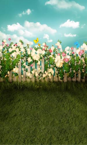 Floral Fence Backdrop