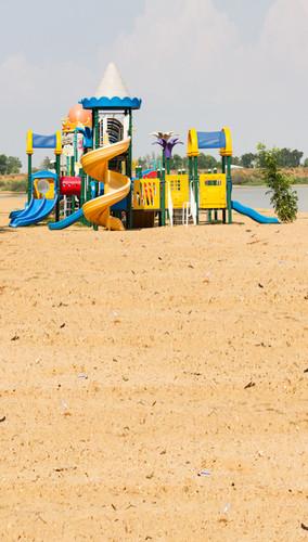 Twisty Slide Fun Backdrop