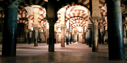 Romanesque Courtyard Wide Format