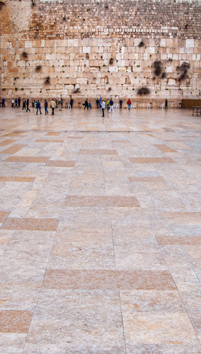 Jerusalem's Western Wall Backdrop