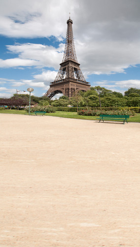 Eiffel Tower Sidewalk Backdrop