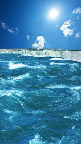 Ocean Waterfall Backdrop