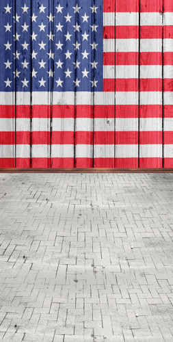 Patriotic Slats Backdrop