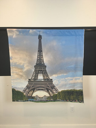 "Eiffel Tower Lawn 43""x43"" JerseyCloth Backdrop"
