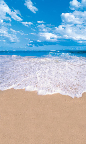 Encroaching Waves Backdrop