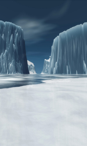Ice Cliffs Backdrop
