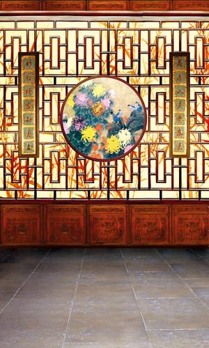 Chrysanthemum Deco Backdrop