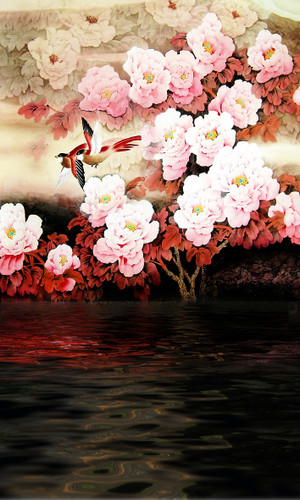 Pink Peonies Backdrop