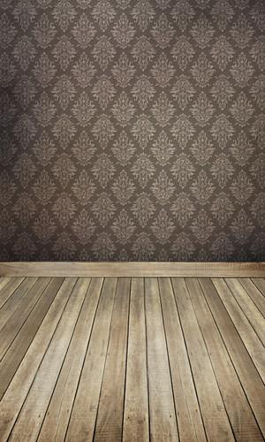 Damask Room (Grey) Backdrop