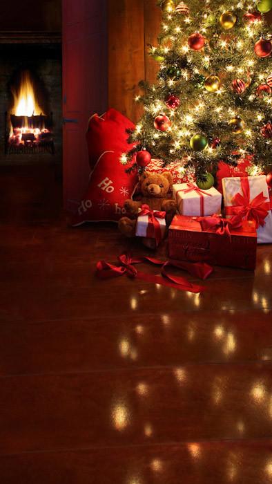 Cozy Christmas Backdrop Photo Pie