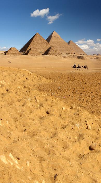 Egyptian Pyramids Backdrop Photo Pie