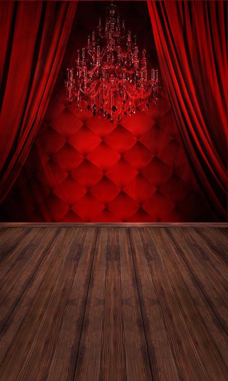 Red Boudoir Backdrop Photo Pie