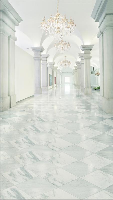 White Marble Hallway Backdrop Photo Pie