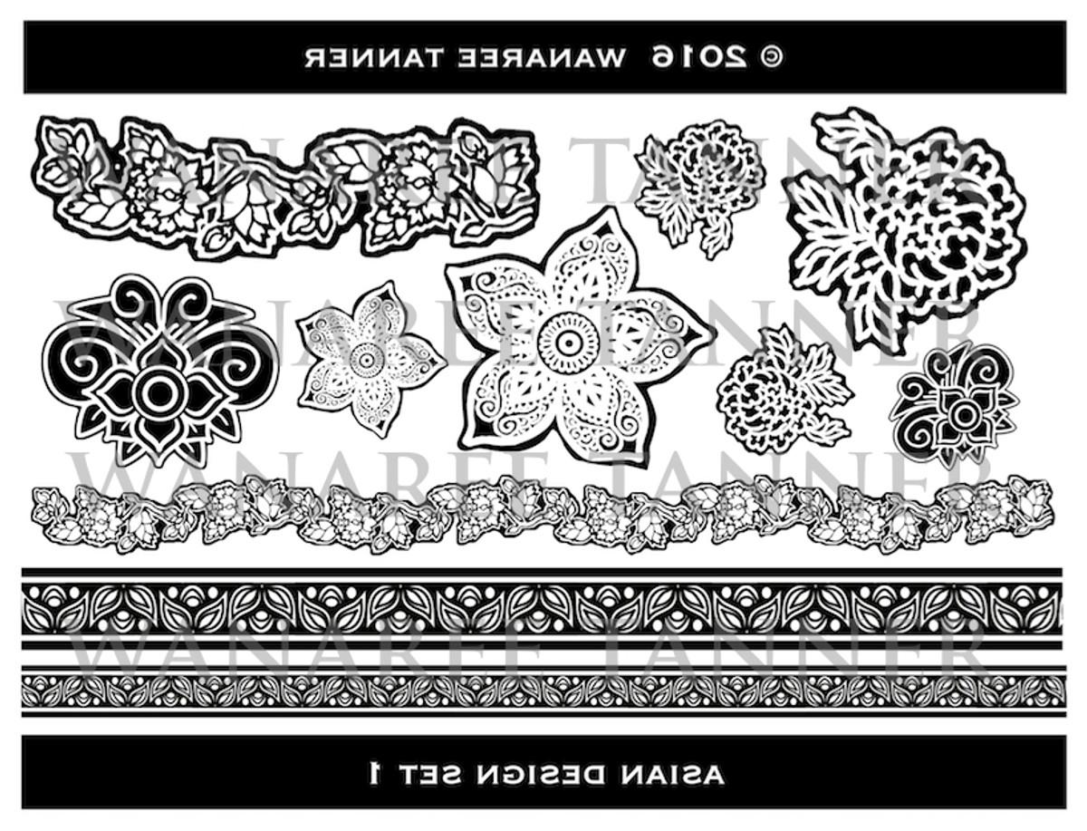 wanaree tanner signature texture plate henna bloom asian 1 metal clay ltd. Black Bedroom Furniture Sets. Home Design Ideas