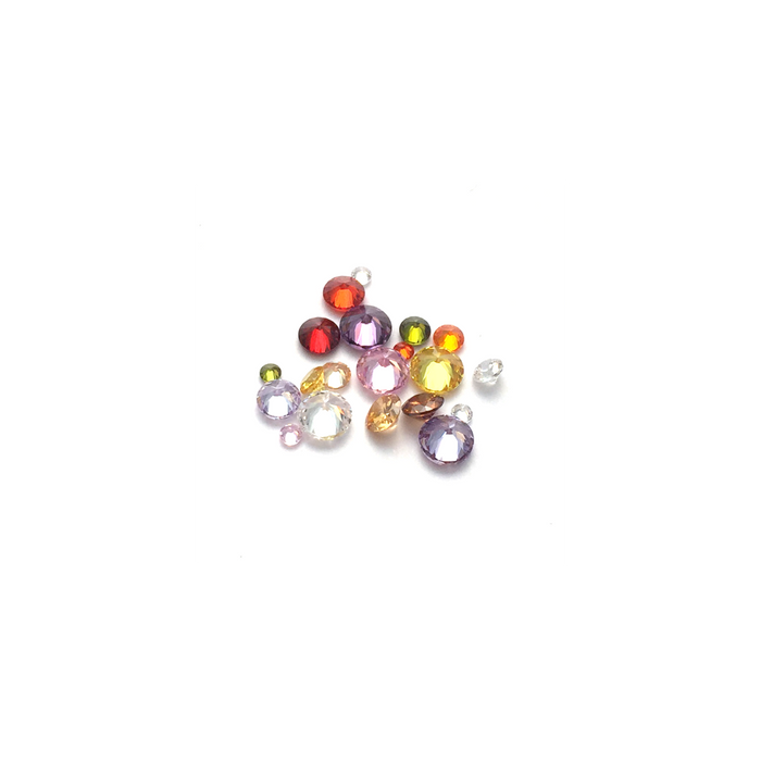 Lab Created Gempack - Round Mixed Colours/Size (20 stones)