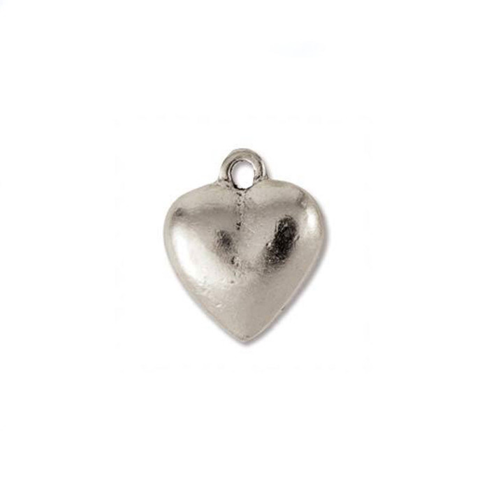**LIMITED STOCK** Heart Charm - Antique Silver - 12 x 12mm