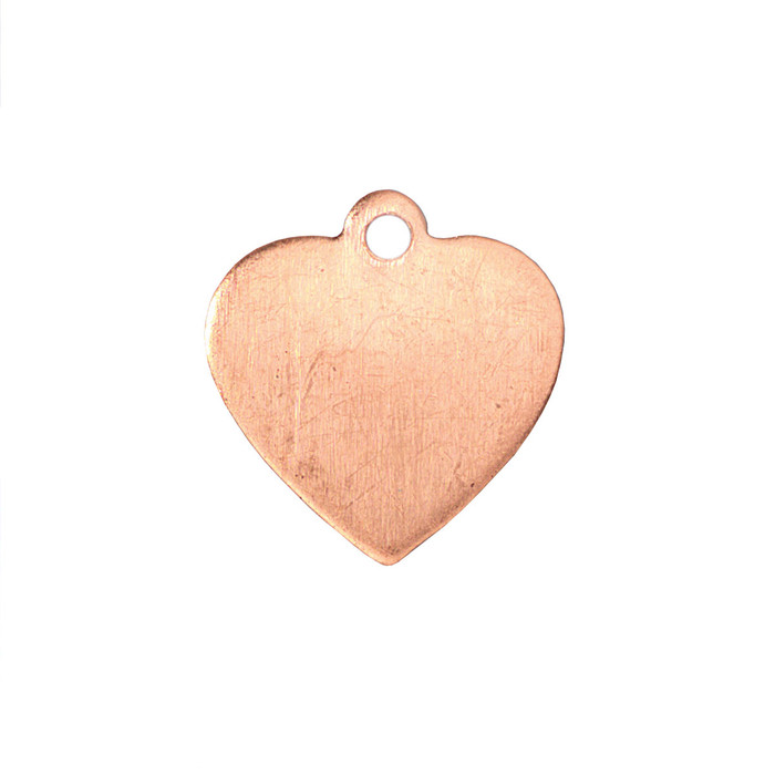 Copper Blank - Heart - 16 x 15mm