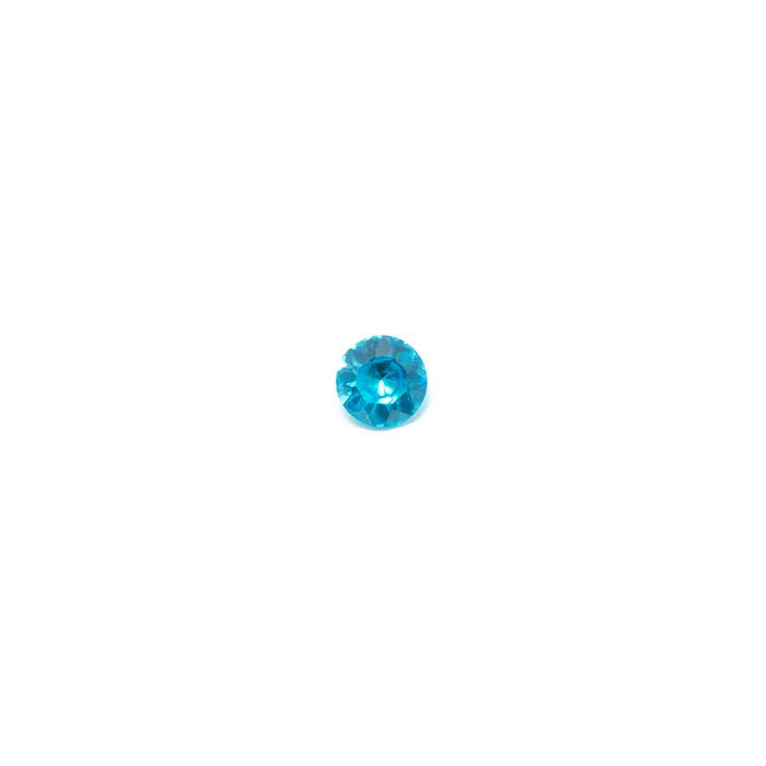 Lab Created Gemstone - Blue Topaz Round 4mm (Non-fireable)
