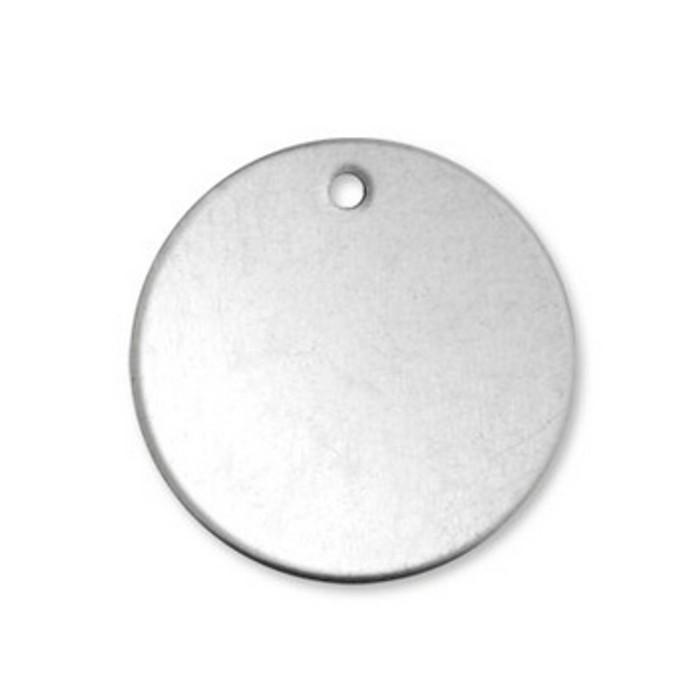 "Alkeme Blank Circle With Hole 1.9cm (3/4"")"