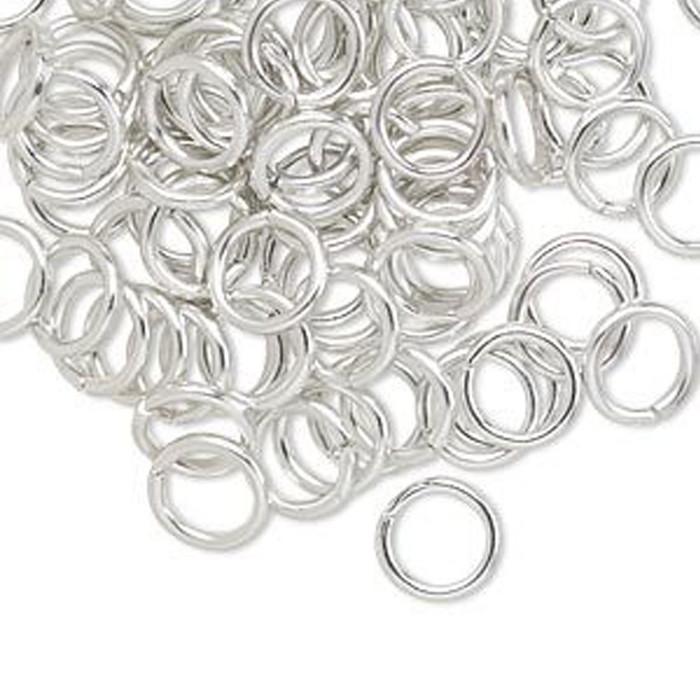 Aluminium Jump Rings - 8mm Silver - 100pcs