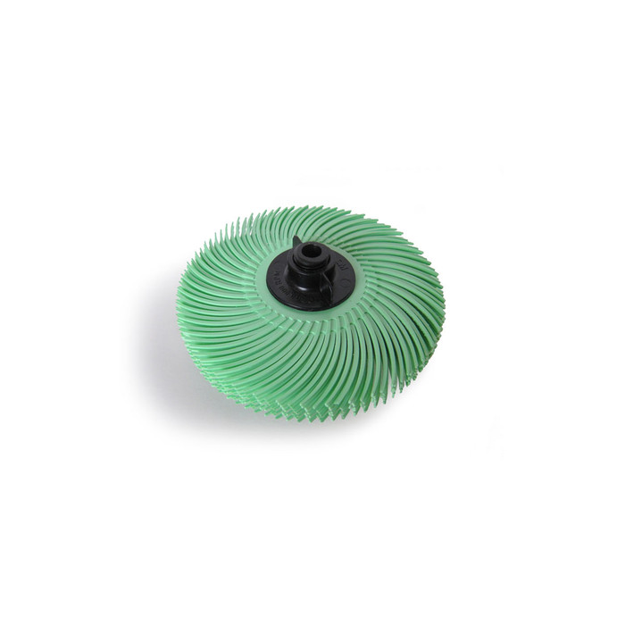 "JoolTool Essentials: 3M Radial Bristle Brush 3"" - 6-ply, Green 1 Micron"