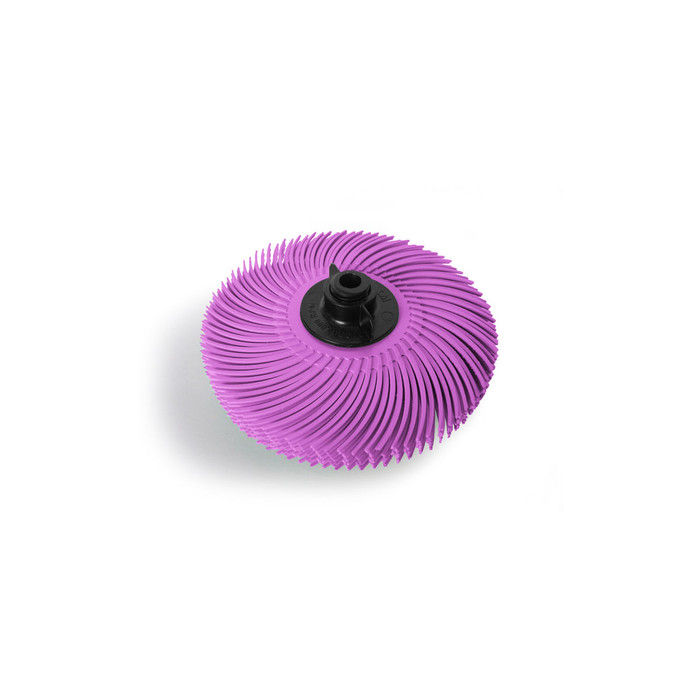 "JoolTool Essentials: 3M Radial Bristle Brush 3"" - 6-ply, Pink Pumice"
