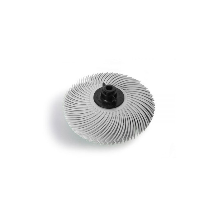"JoolTool Essentials: 3M Radial Bristle Brush 3"" - 6-ply, White 120 Grit"