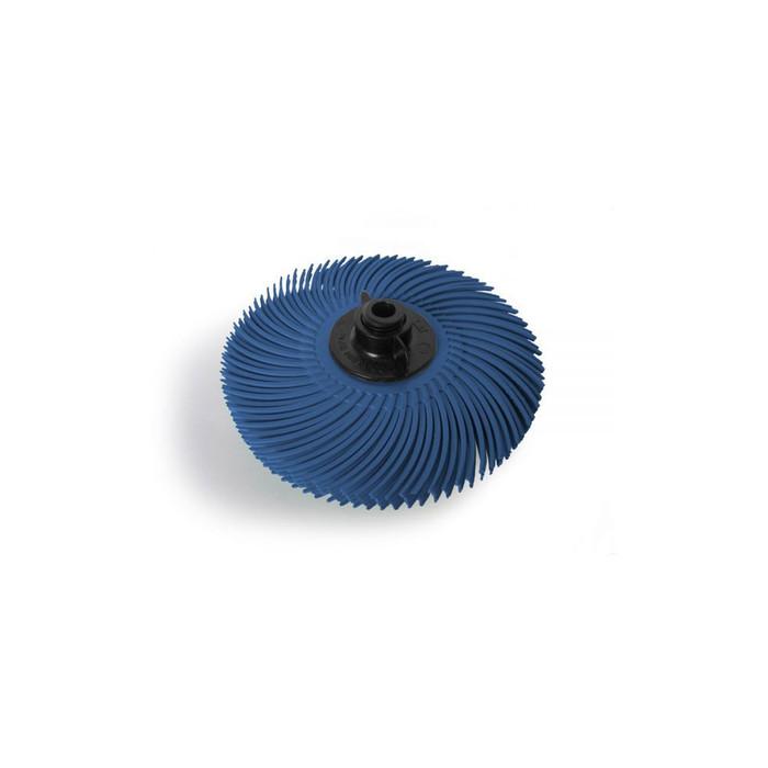 "JoolTool Essentials: 3M Radial Bristle Brush 3"" - 6-ply, Blue 400 Grit"