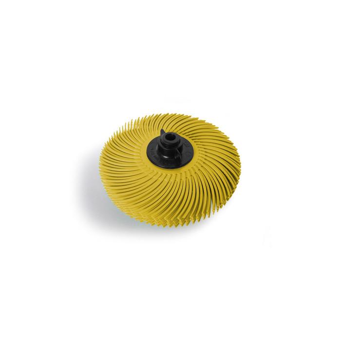 "JoolTool Essentials: 3M Radial Bristle Brush 3"" - 6-ply, Yellow 80 Grit"