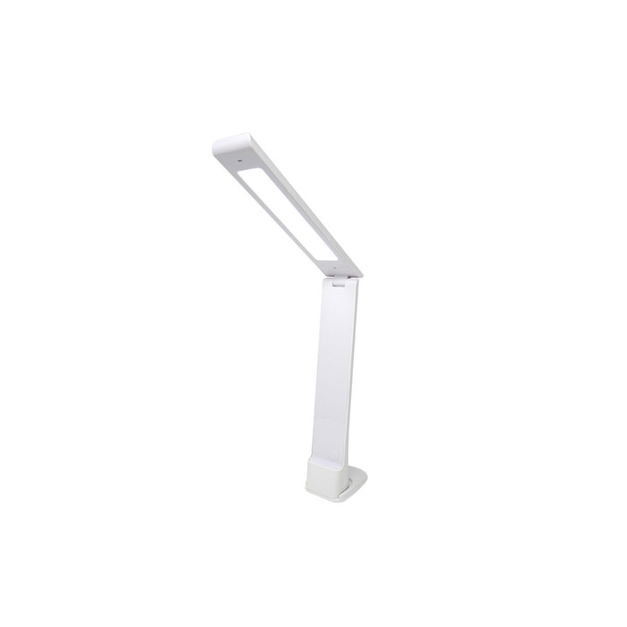 Lightcraft LED Cordless Folding Lamp [LC8045LED]  • Dimmable LED task lighting & smaller night light • Portable & Rechargeable • Energy efficient – Low heat emission • Mini stand for desk use or hanging slot for night light • 2m USB cable for use through Computer/Laptop • Mains UK/EU Plug with USB slot