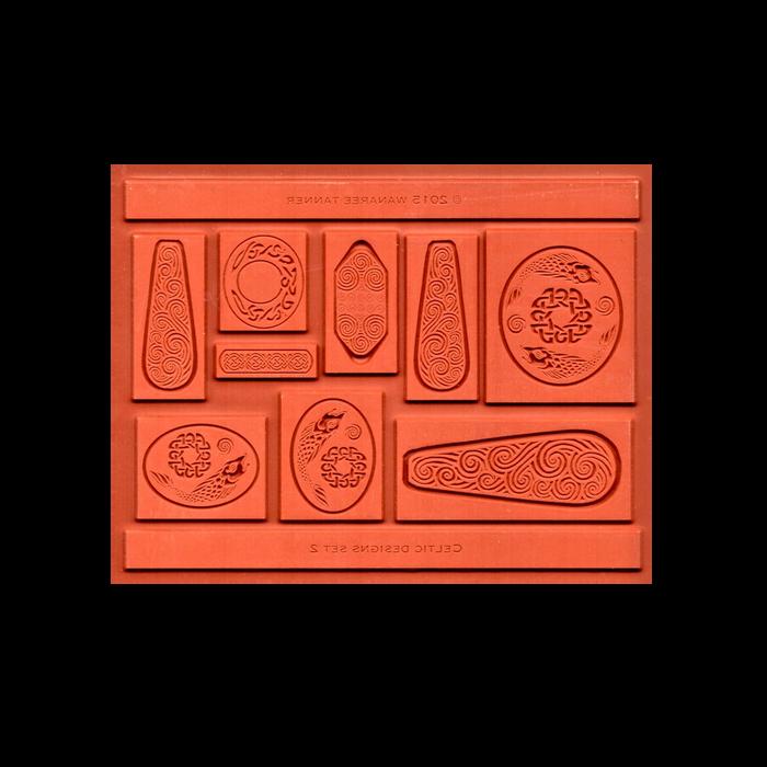 Wanaree Tanner Signature Texture Plate - Celtic 2 - Salmon of Knowledge