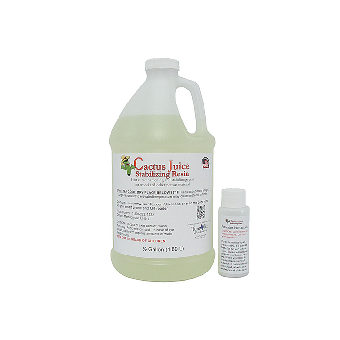 *Cactus Juice Stabilizing Resin - 1.89 Litres (1/2 US Gallon)