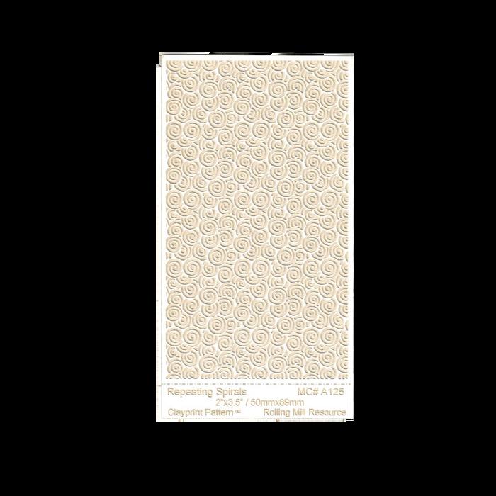 RMR Laser Texture Paper - Repeating Spirals - 50 x 89mm