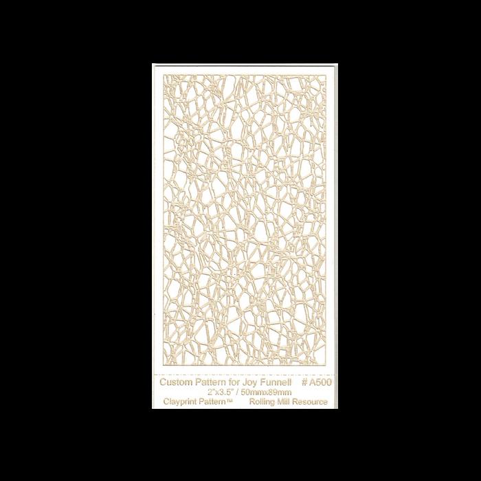RMR Laser Texture Paper - Tangles of Joy - 50 x 89mm