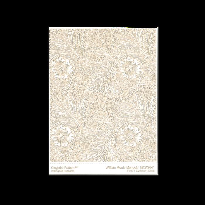 RMR Laser Texture Paper - William Morris Marigold - 102 x 127mm