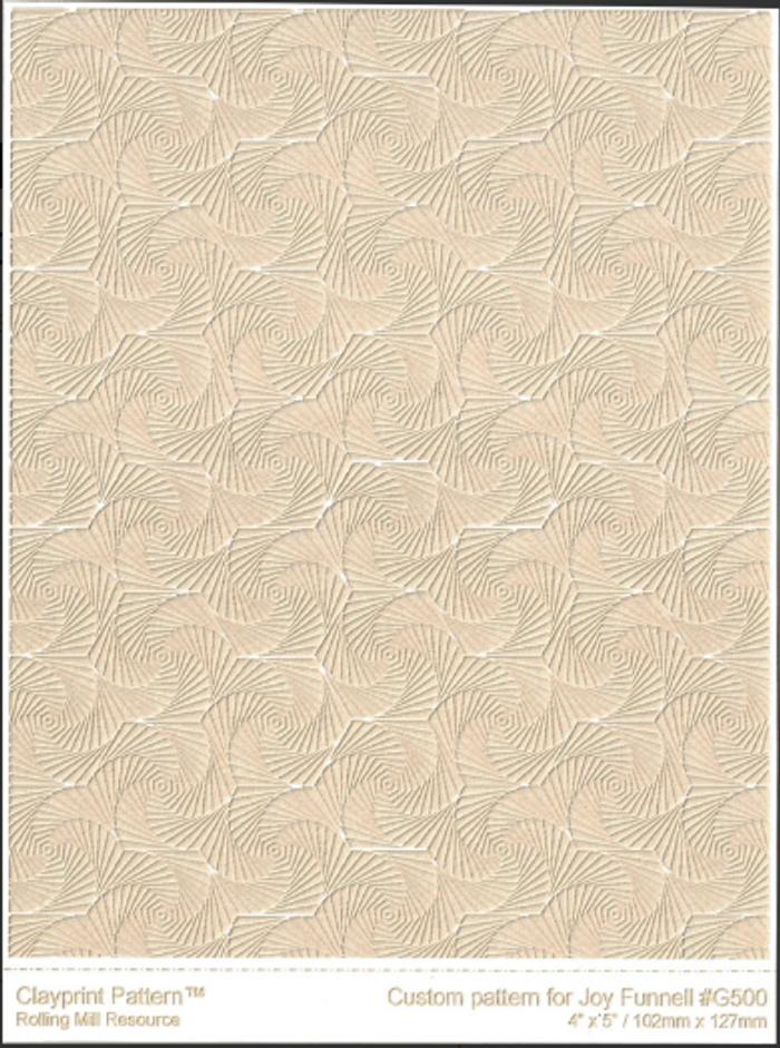 RMR Laser Texture Paper - Whirls of Joy Reversed - 102 x 127mm