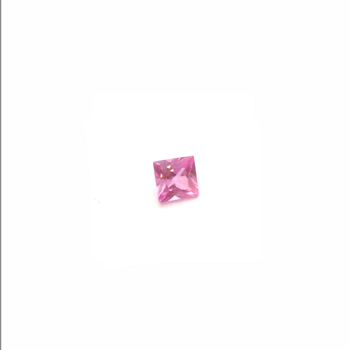 Lab Created Gemstone - Pink Square