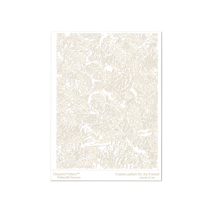 RMR Laser Texture Paper - Leaves of Joy - 102 x 127mm