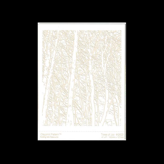RMR Laser Texture Paper - Trees of Joy - 102 x 127mm