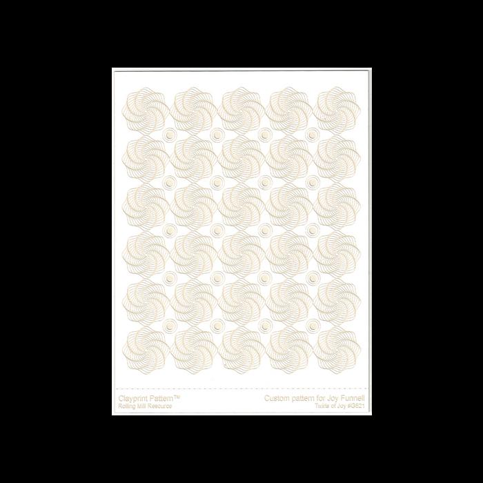 RMR Laser Texture Paper - Twirls of Joy - 102 x 127mm