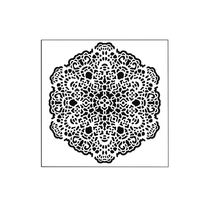 The Crafters Workshop 6x6 Stencil - Octogonal Lace