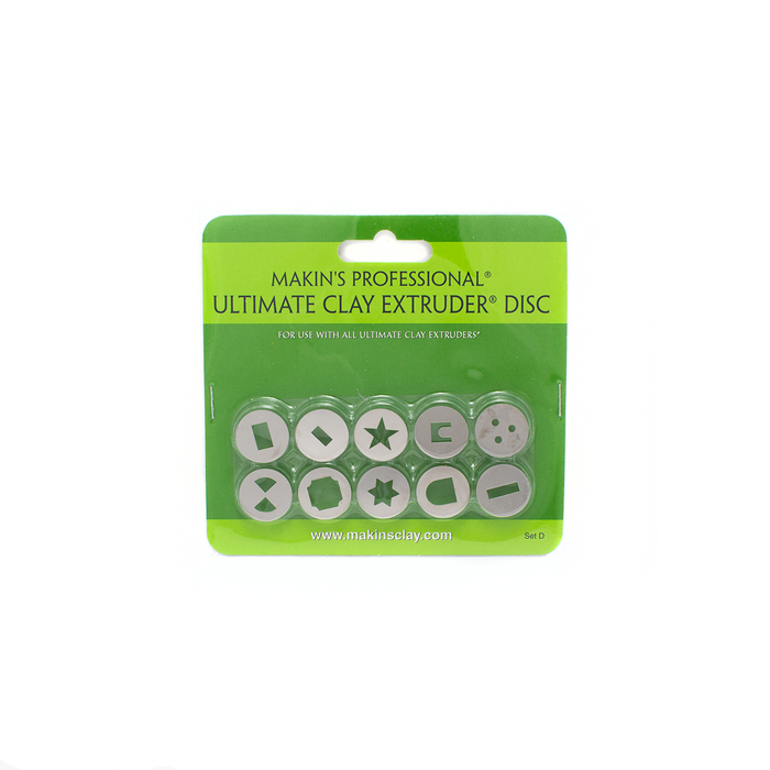 Makin's Ultimate Clay Extruder Discs - Set D