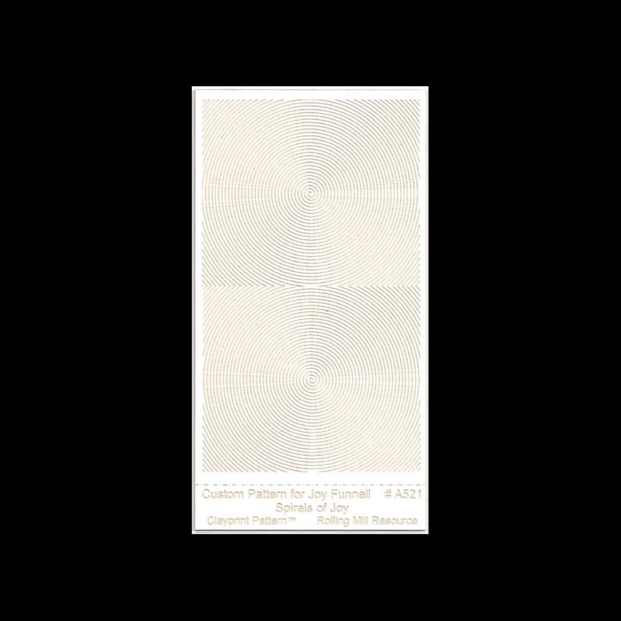 RMR Laser Texture Paper - Spirals of Joy - 50 x 89mm
