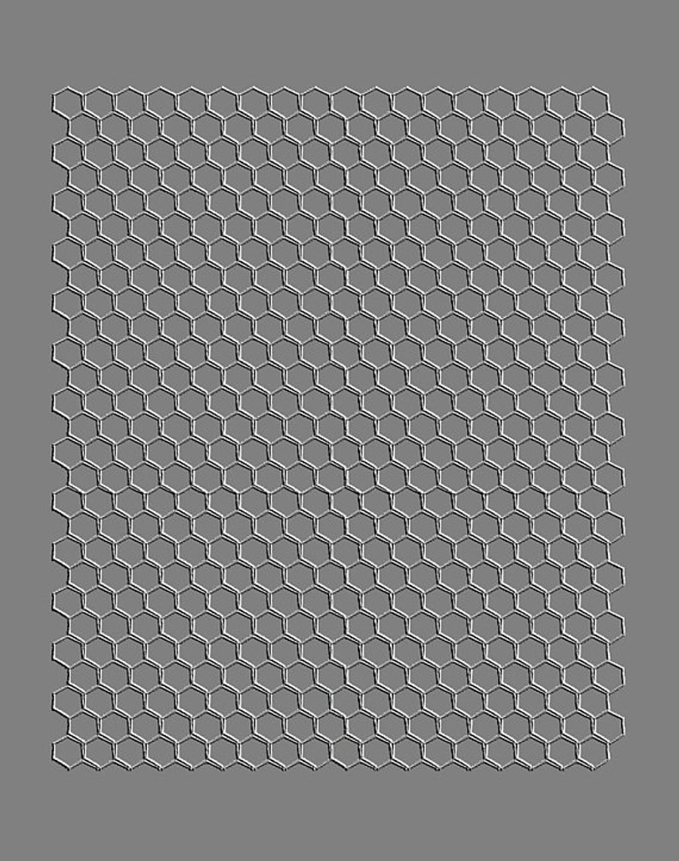 RMR Laser Texture Paper - Honey Comb - 102 x 127mm