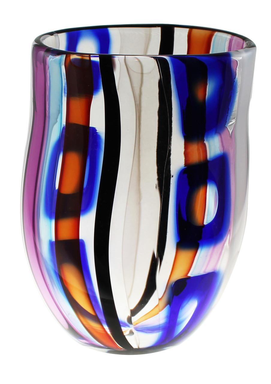 Multicolored One of a Kind Hand Blown Cane Art Gl Flower Vase ... on ve flower, dz flower, mn flower, sc flower, sd flower, uk flower, ls flower, va flower, na flower, ca flower, pa flower, vi flower,