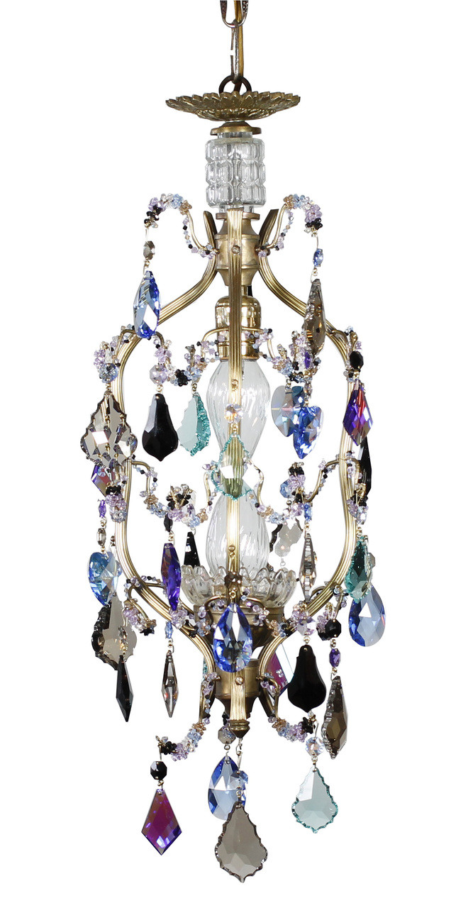 Small crystal chandelier colorful chandelier karen curtis petite birdcage multi colored chandelier aloadofball Gallery