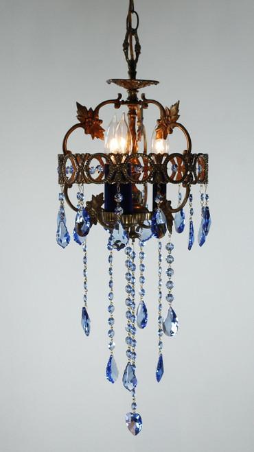 Sapphire blue chandelier strass swarovski crystal chandelier chandelier spanish frame crown with long strands aloadofball Images